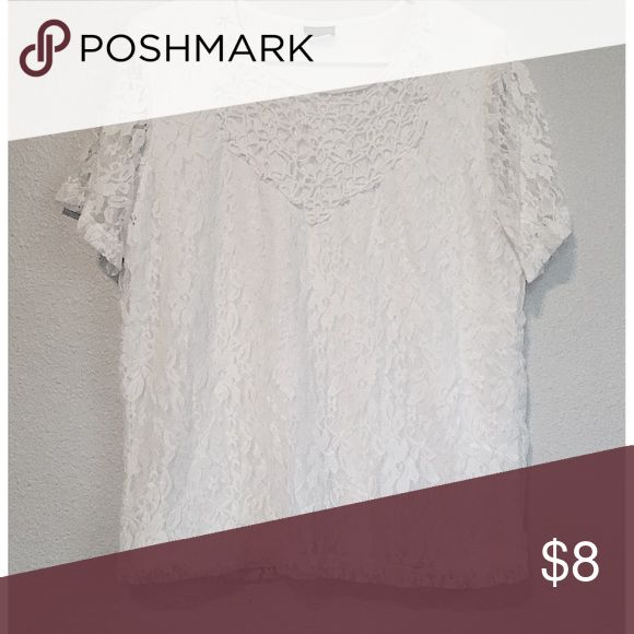 NEW Women's White Lace Crochet Short Sleeve Top New! Women's size large. Completely stunning! Next day shipping! Free gift with every purchase. Bundle and save $$$! Offers always welcome. Feel free to ask any questions. 🌹 Tags: fashion, designer, flattering, discount, sale, aeropostale, gilly hicks, cute, sexy, rare, 90s, Top, vintage, crochet, lace, lacy, floral, style, free people, urban, girly, fall, winter, holidays, brandy, classy, Salon Studio Tops Tees - Short Sleeve
