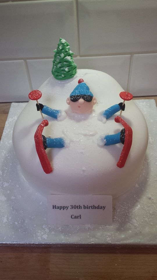 My Skiing Cake X Cakes In 2019 18th Birthday Cake