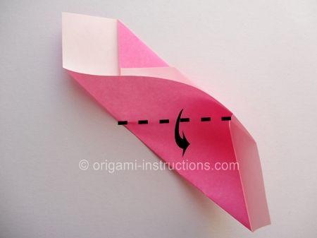 Origami Magie Rose Cube Etape 9