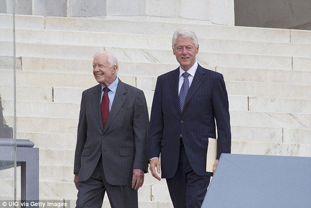 Clinton's message today comes amid an outpouring of affection for Carter who revealed he i...