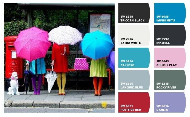 Paraguas coloridos