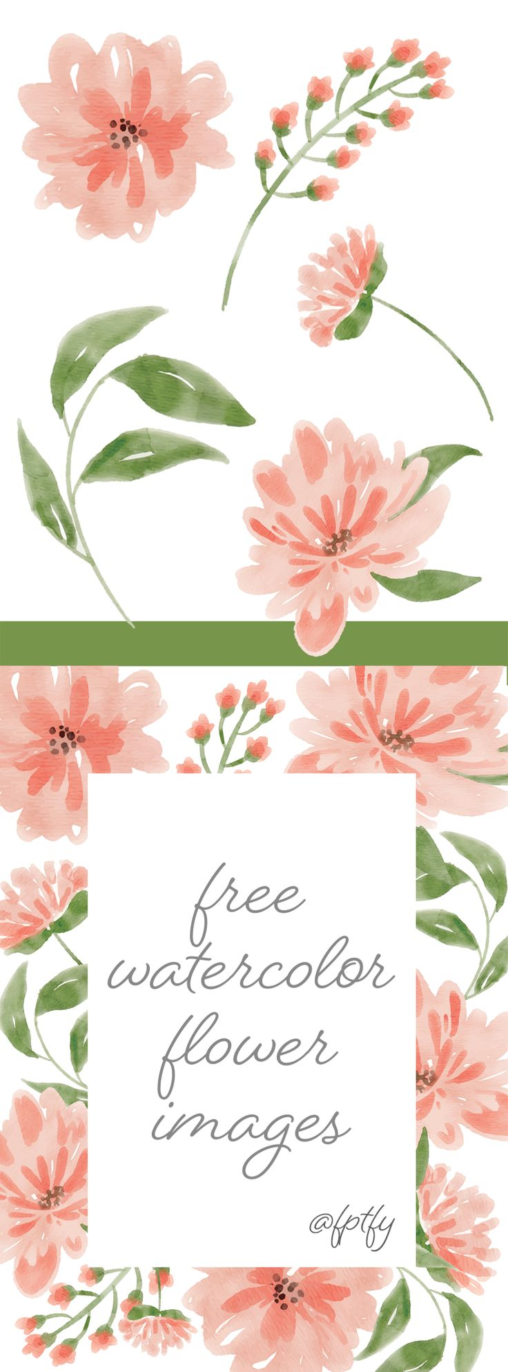 create wonderful DIY crafts with these gorgeous Free Watercolor Flower Images – Peach Delight!