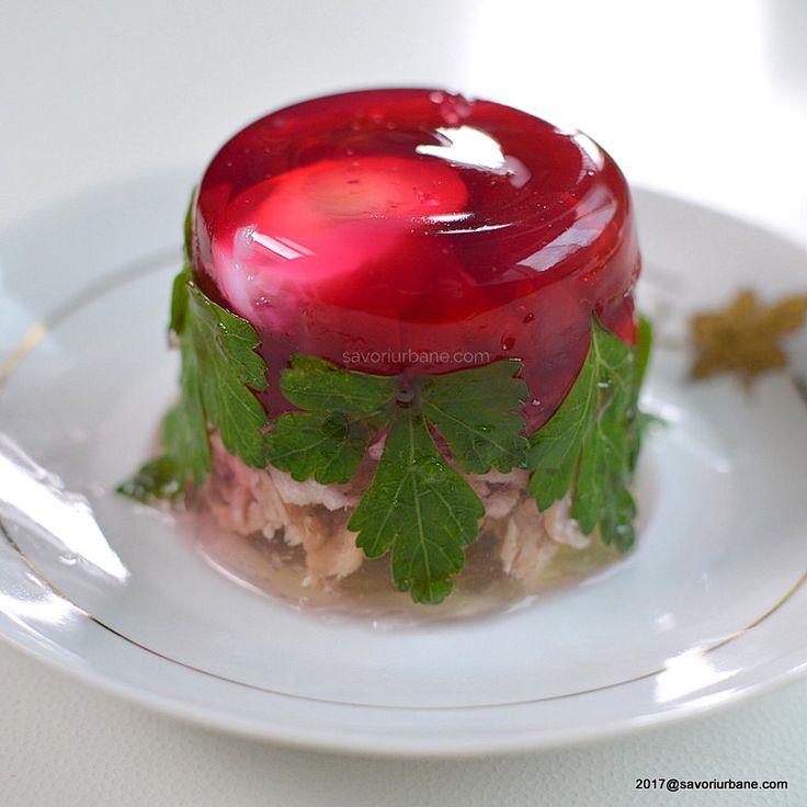 piftie colorata cu sfecla rosie