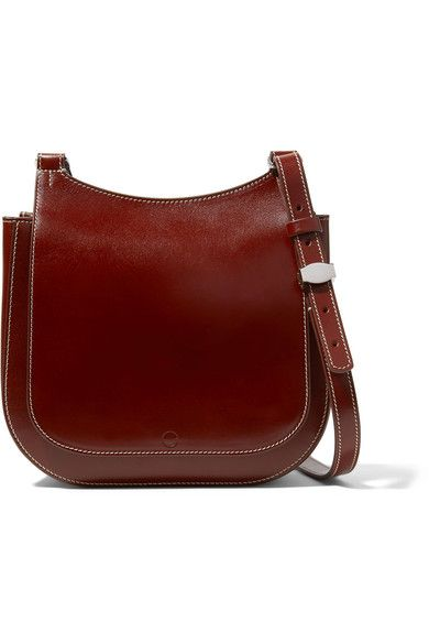 The Row - Hunting 9 Patent-leather Shoulder Bag - Chocolate ... d7084177370f0
