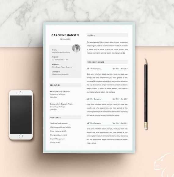 25+ unique Cv template for students ideas on Pinterest Cv for - portfolio word template