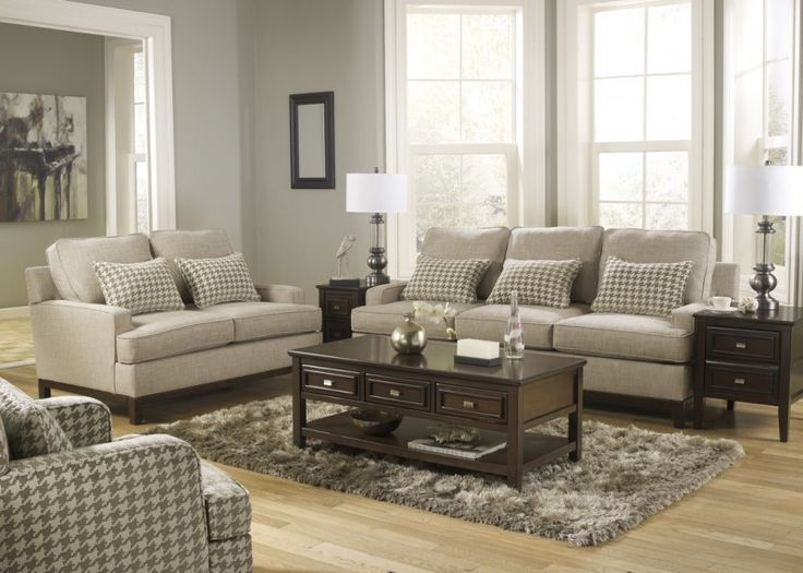 Tucson Collection Contemporary Style Sofa Set   Silver Coast Company