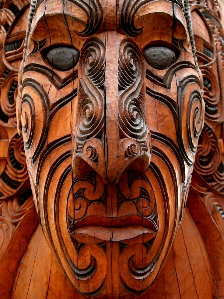 how to draw a maori carving