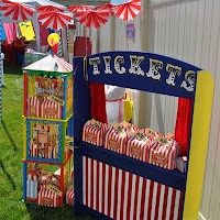 A circus theme party. Pick up your favors here!