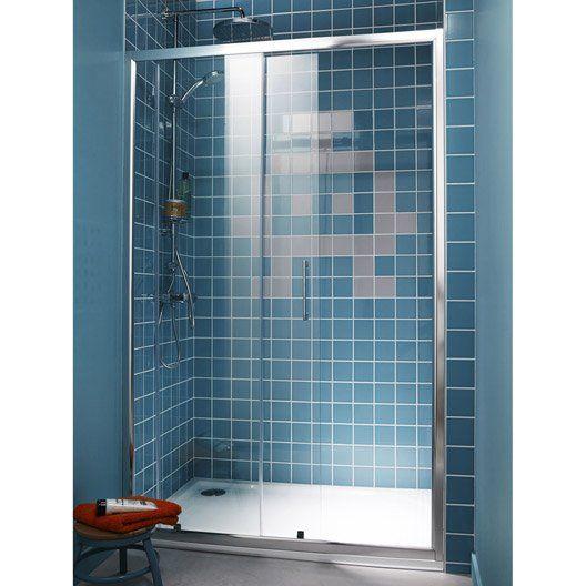 Porte de douche coulissante sensea remix 2 verre de for Porte coulissante salle de bain verre