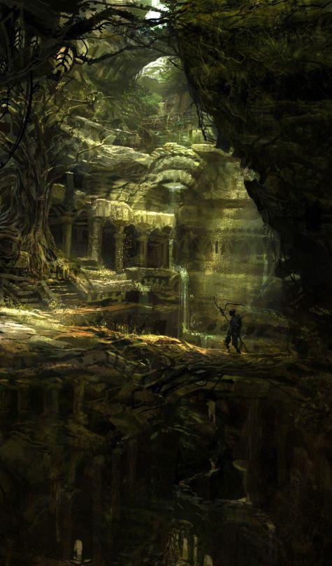Ruine de l'ancienne civilisation naine