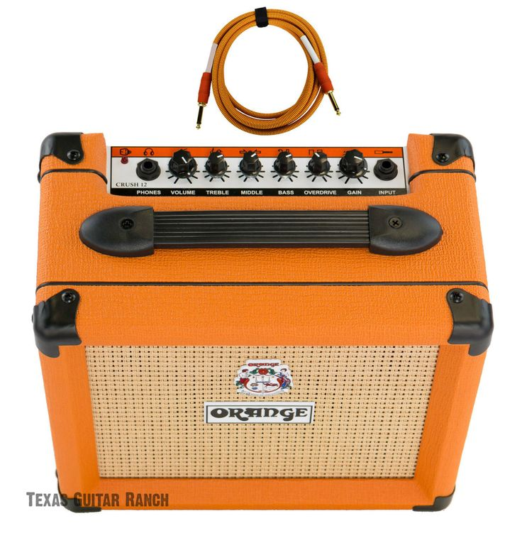 Orange Crush 12 CR12 Amp 12w Small Guitar Combo Amplifier Free Cable