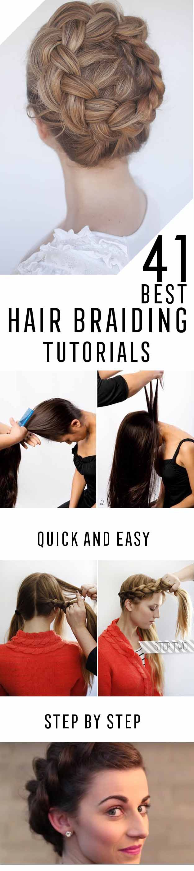 Best Hair Braiding Tutorials - Step By Step Easy Hair Braiding Tutorials For Long Hair, Pont Tails, Medium Hair, Short Hair, and For Women and Kids. Videos and Ideas for Dutch Braids, Messy Buns, Fishtail Braids, French Braids, Black Hair, Blondes, And Even For Headbands - http://thegoddess.com/best-hair-braiding-tutorials