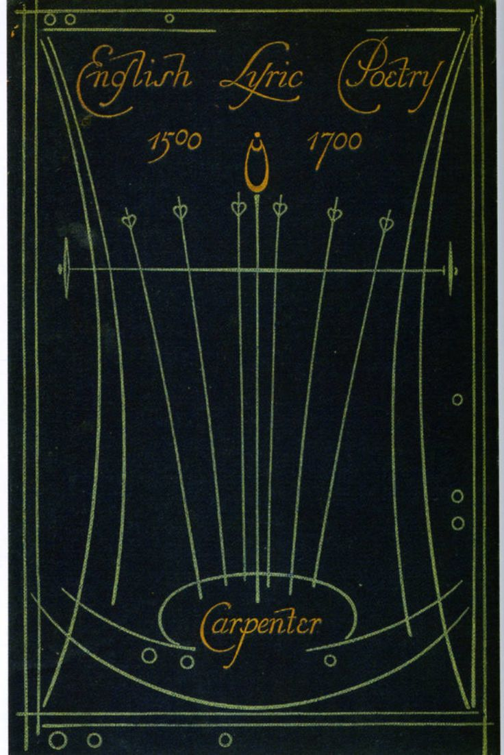 "Cover of Carpenter's ""English Lyric Poetry 1500-1700"" — binding design by Talwin Morris (1865-1911)"