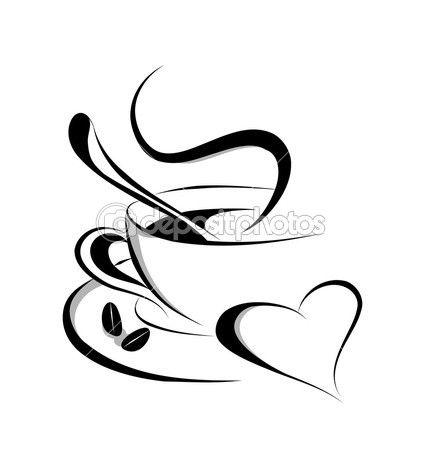 Coffee Love Vector — Imagen vectorial