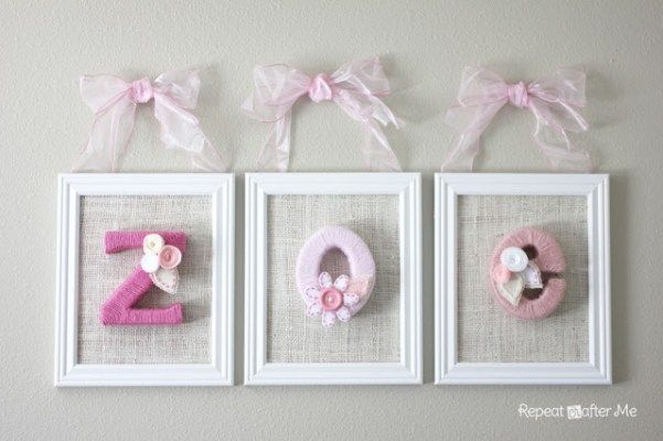 Yarn Wrapped Letters for Baby's Room - Repeat Crafter Me