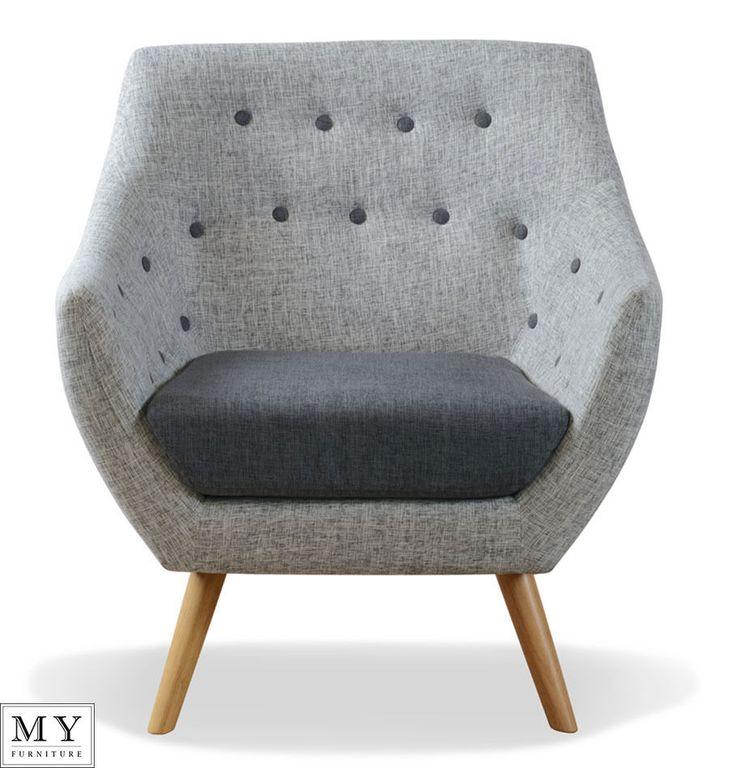 Finn Juhl style  poet  retro buttoned   armchair solid Oak legs