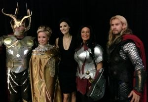 Exclusive: Jaimie Alexander Talks 'Thor' Sequels, Wonder Woman, And 'Batman Vs. Superman'<- She said there might be another movie!!! YES LOKI MOVIE!! With Sif in the background! I would love to see Sif and Loki pair up for some mischief! :D