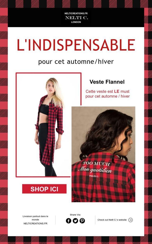L'INDISPENSABLE  pour cet automne/hiver must de cet hiver  Chemise stylée Rouge  NELTICREATIONS.FR
