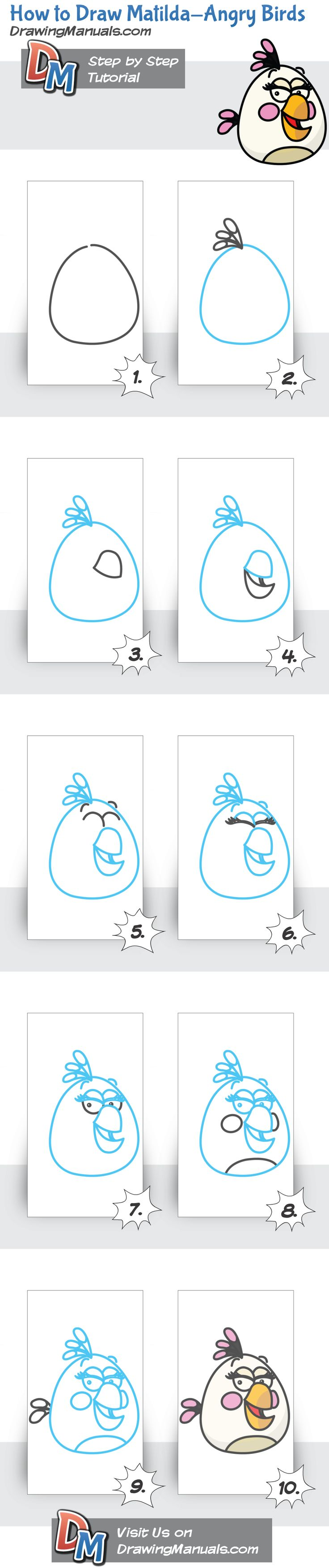 How to Draw Matilda-Angry Birds