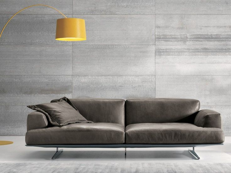 3 seater leather sofa ALBACHIARA | 3 seater sofa by Max Divani
