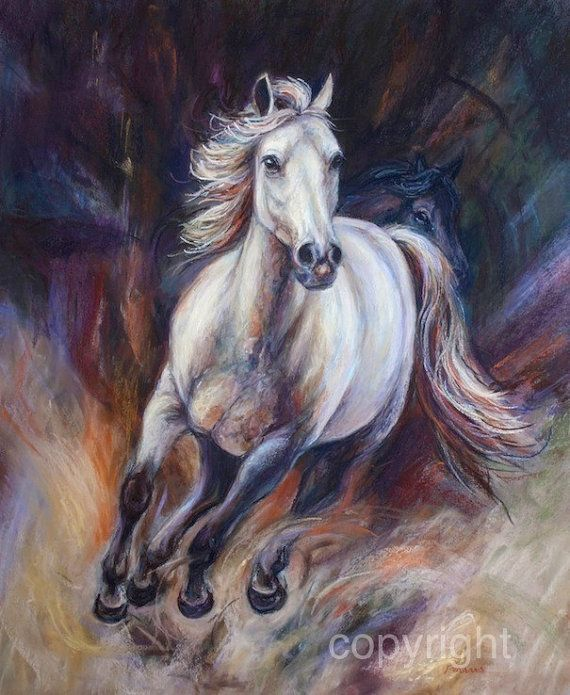 Original horse painting, horse decor, original art  Run Like The Wind  Original Pastel on sanded paper  Size 24 1/2 X 20  Size outer edge of frame