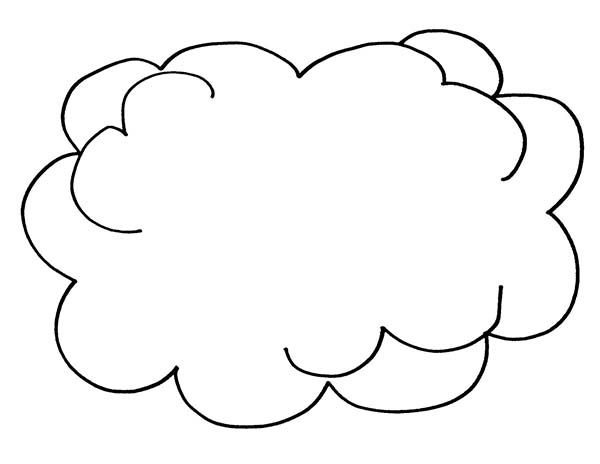 Clouds Picture Of Clouds Coloring Page