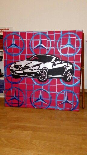 pop art, acrylic, 80x80 cm