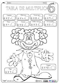 Aula de Elena: Tablas de multiplicar: fichas para colorear y jugar