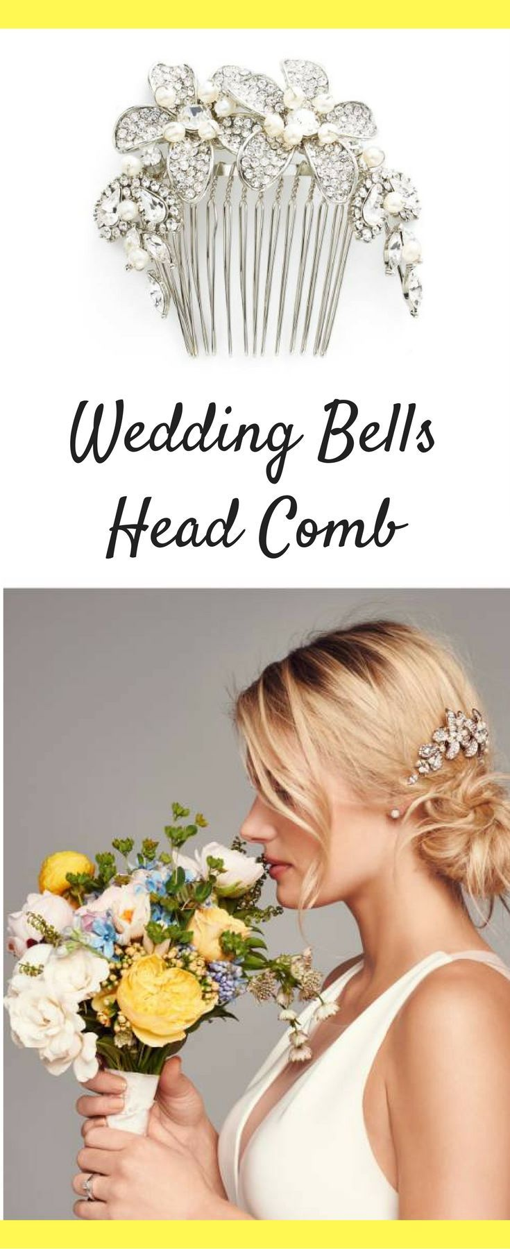 This is such a beautiful head comb for weddings or prom!  Create beautiful hairstyles with this gorgeous head comb.  #ad #haircomb #haircomesthebride #wedding #weddingday #weddingideas #weddinghair #weddinghairstyle #weddingheadpiece