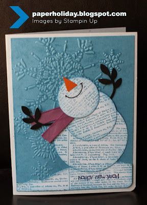 Paper Holiday Revisited: Dictionary Snowman