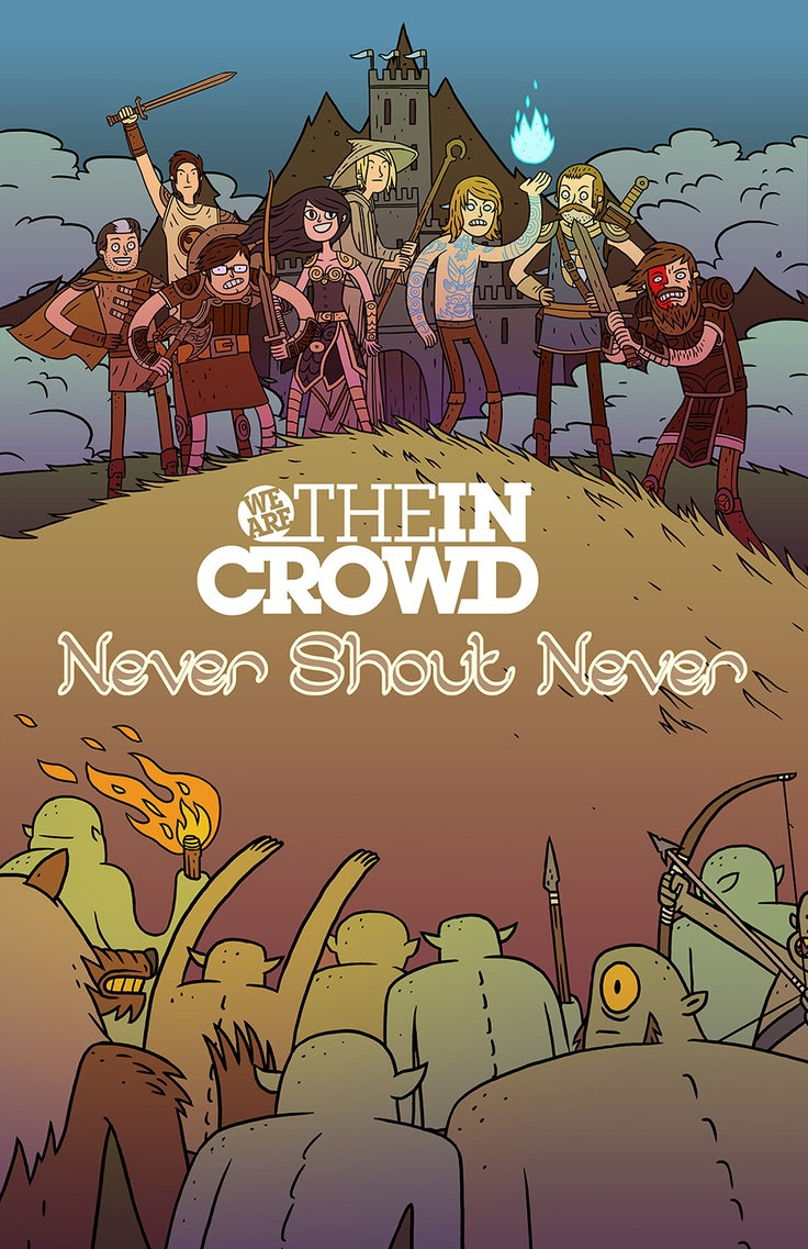 183 best never shout never images on pinterest beautiful things we are the in crowd never shout never poster by brett jubinville hexwebz Image collections
