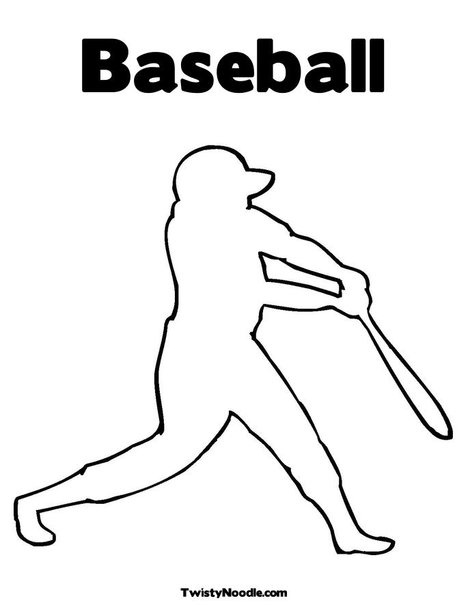 baseball player coloring pages - photo#23