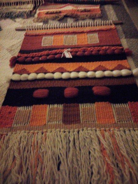 Telar artístico lana de oveja 100% Mariana Urrutia S. Diseños Kollella