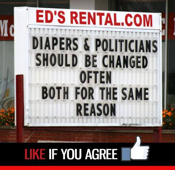 Diapers and politicians ... okay so it's not legal humor, but it's too damn funny just the same!