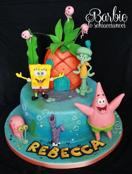 Spongebob Birthday Cake Design : Spongebob and Co. - by BarbieSchiaccianoci @ CakesDecor ...
