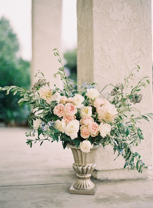 rose and dahlia arrangement by Abany Bauer Styling + Flowers, image by Rylee Hitchner