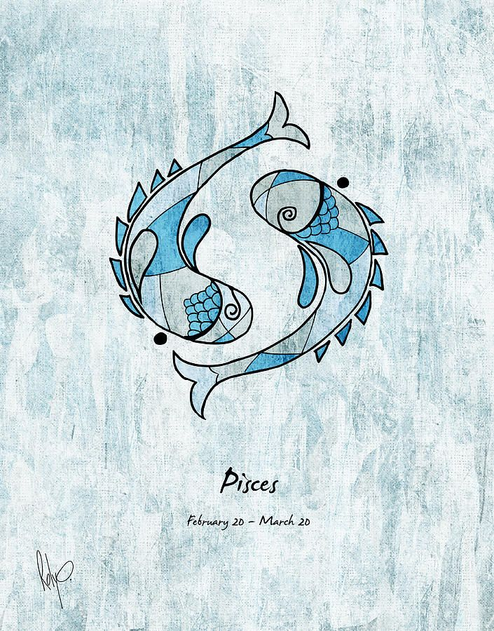 Pisces Artwork Drawing