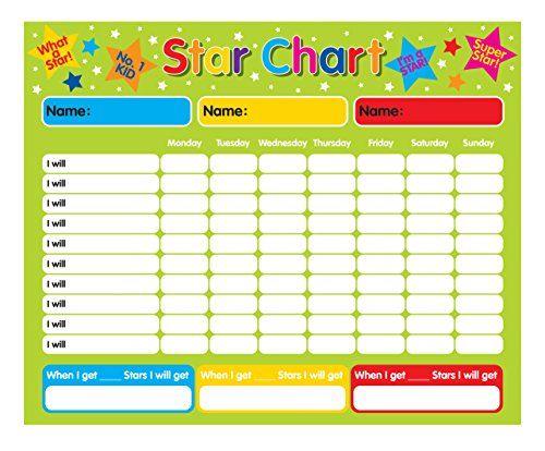 "Magnetic Reward / Star / Responsibility / Behavior Chart for up to 3 Children. Rigid board 16"" x 13"" (40 x 32cm) with hanging loop Fridgemagic http://smile.amazon.com/dp/B000MEYJR4/ref=cm_sw_r_pi_dp_xwDFvb1E9JDK2"