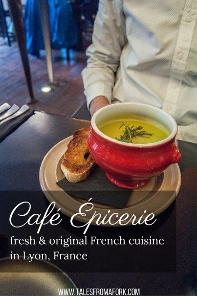 Don't miss out on a perfectly executed French lunch in Lyon at Café Épicerie. At only €17,50 for a lunch set, this is a must-eat place in Lyon!