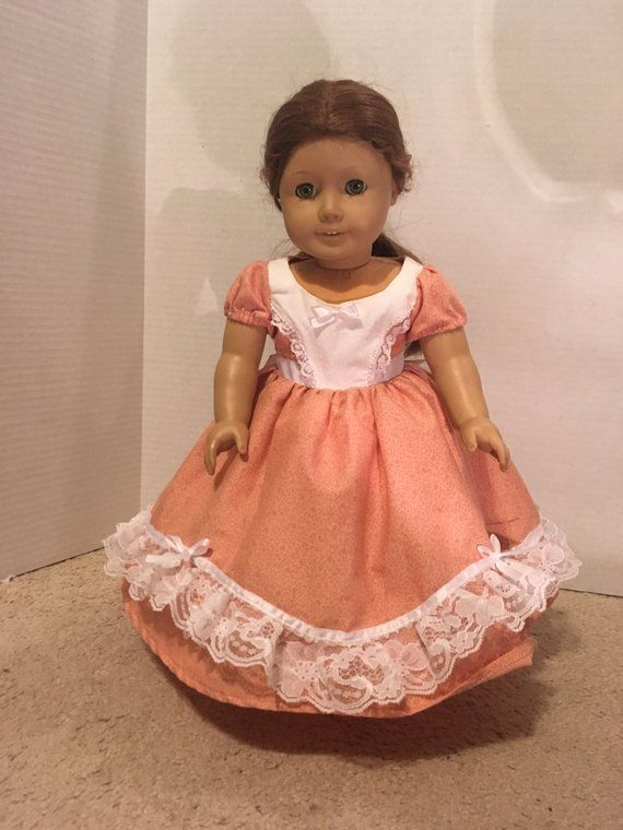 3bc28b80f Southern Belle Civil War Era Dress for American Girl or Similar 18 ...