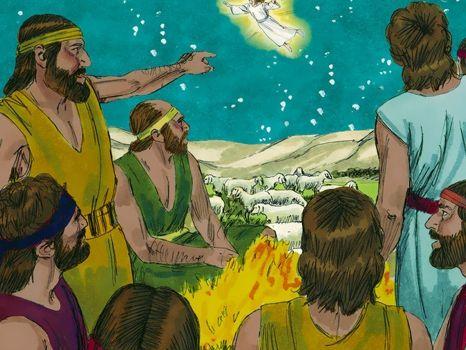 De herders, 9 Bijbelplaten voor het digibord, kleuteridee.nl , Bijbelles voor kleuters.