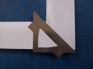 coupe d'angle sur bristol