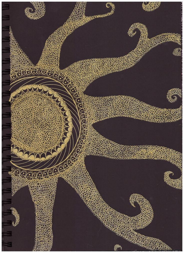 #pattern #in #black #paper #sun #gold #posca