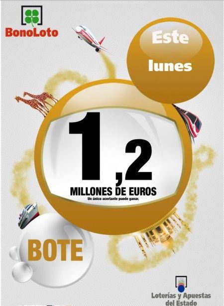 Bonoloto, Bote 1.200.000€, lunes 29 Julio de 2013