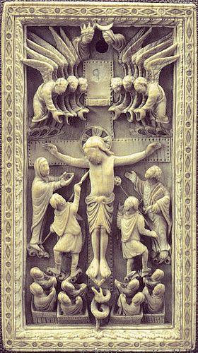 Crucifixion ivory plaque [860-70] Reims