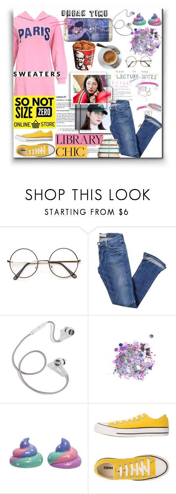 """Survive The Finals Season With So Not Size Zero"" by sonotsizezero ❤ liked on Polyvore featuring Elizabeth and James, B&O Play, The Gypsy Shrine, Funky Chunky and Converse"