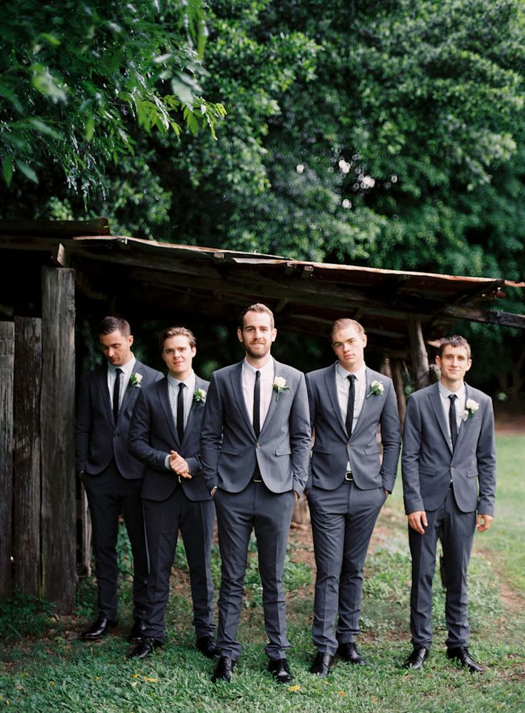 gray suits skinny black tie: Black Ties, Outfit Ideas, Graysuits, Grey ...