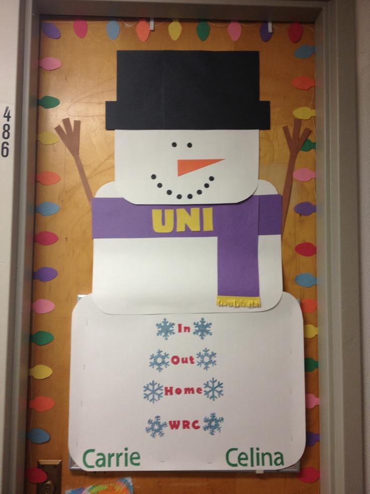 Winter door dec! Or bulletin board