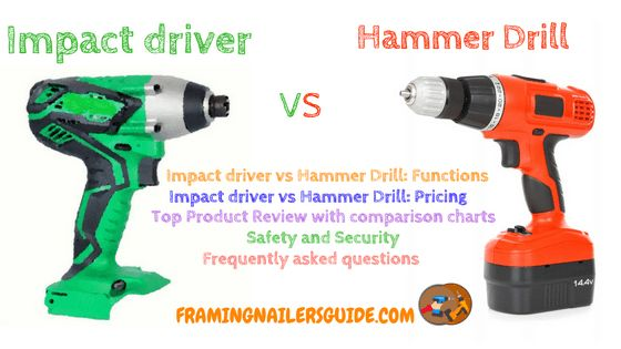 Our research article talks about impact driver vs hammer drill what's the best in 2018. We have discussed the difference between an impact driver and hammer drill. You will know what is a Hammer Drill and Impact Driver and how to use a hammer drill as well. We have reviewed top 5 hammer drill.