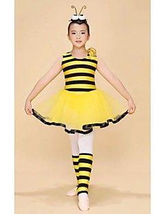 детские танцевальная одежда балетные костюмы / пачки детского спектакля модальные / вискоза уровней 1 шт желтые